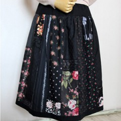 Black Patch work Skirt
